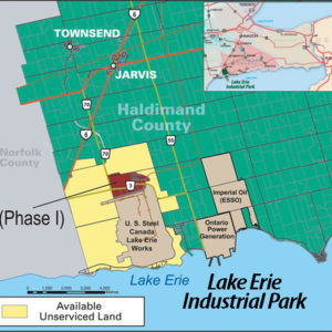 Map Diagram of Lake Erie Industrial Park