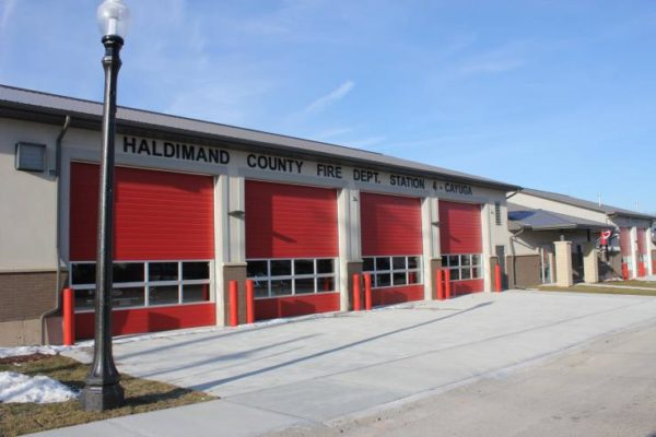 Cayuga Fire Station #4 - an image of the garage doors