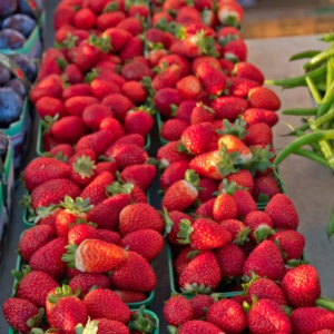 Image of Strawberries at the Farmers Market