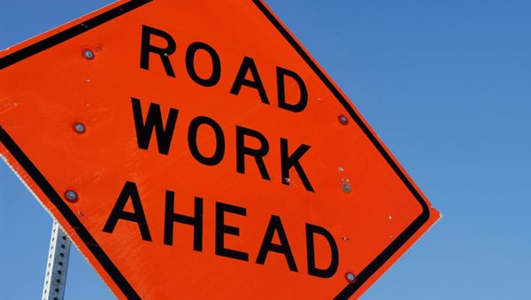 Road Work Ahead - Construction